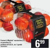Farmer's Market Nectarines 2 L Or Peaches 3 L