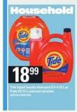 Tide Liquid Laundry Detergent - 3.4-4.43 L Or PODS - 54/72's
