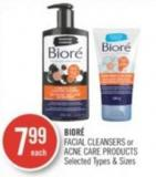 Bioré Facial Cleansers or Acne Care Products