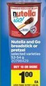 Nutella And Go Breadstick Or Pretzel - 52-54 G