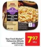Your Fresh Market Fettuccine Alfredo With Chicken