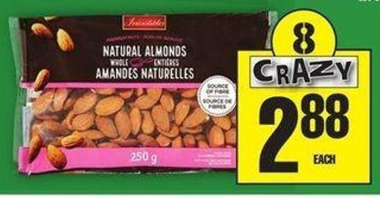 Irresistibles Whole Natural Almonds Or Chocolate Covered Almonds