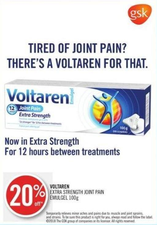 Voltaren Extra Strength Joint Pain Emulgel 100g