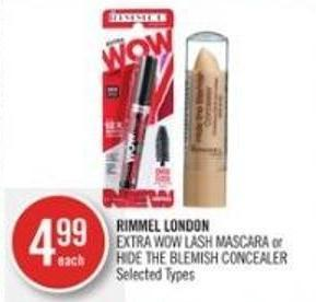 Rimmel London Extra Wow Lash Mascara or Hide The Blemish Concealer