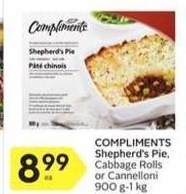 Compliments Shepherd's Pie