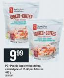 PC Pacific Large White Shrimp Cooked - Peeled - 31-40 Per Lb Frozen - 400 g