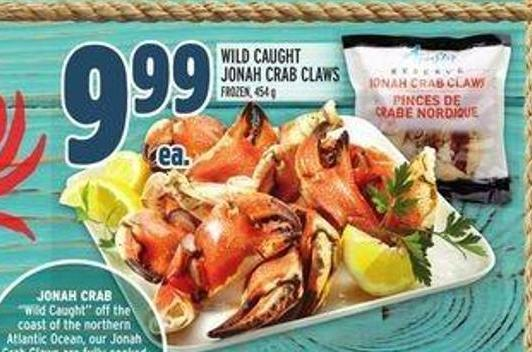 Wild Caught Jonah Crab Claws