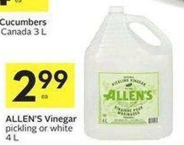 Allen's Vinegar Pickling or White 4 L