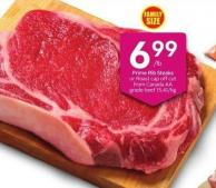 Prime Rib Steaks or Roast Cap Off Cut /Lb From Canada Aa Grade Beef 15.41/kg