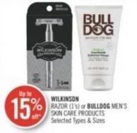 Wilkinson  Razor (1's) or Bulldog Men's Skin Care Products