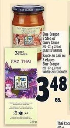 Blue Dragon 3 Step or Curry Sauce