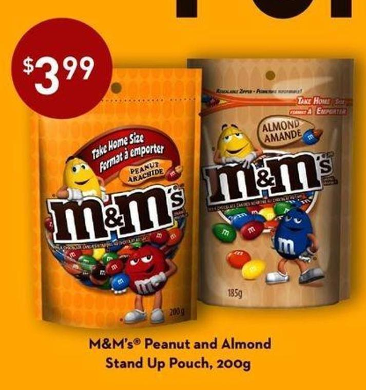 M&m's Peanut And Almond Stand Up Pouch