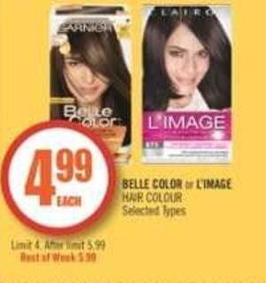Belle Color or L'image Hair Colour