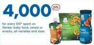 Gerber Baby Food - Cereal Or Snacks