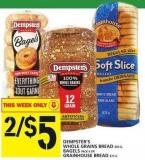 Dempster's Whole Grains Bread Or Bagels Or Grainhouse Bread