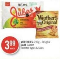 Werther's (230g - 245g) or Dare Candy