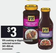 VH Cooking Or Dipping Sauces - 341-450 Ml