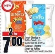 Simply Cheetos Or Ruffles Snacks 227 g