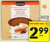 Selection Pumpkin Pie