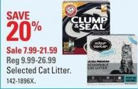 Selected Cat Litter