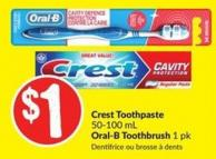 Crest Toothpaste 50-100 mL Oral-B Toothbrush 1 Pk