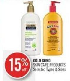 Gold Bond Skin Care Products