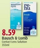 Bausch & Lomb Contact Lens Solution 355ml