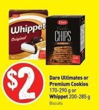 Dare Ultimates or Premium Cookies 170-290 g or Whippet 200-285 g
