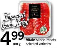 Vitale Sliced Meats - 100 G