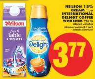 Neilson 18% Cream - 1 L or International Delight Coffee Whitener - 946 mL
