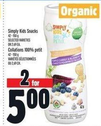 Simply Kids Snacks 42 - 150 g Collations 100% Petit 42 - 150 g