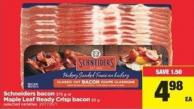 Schneiders Bacon - 375 G Or Maple Leaf Ready Crisp Bacon 65 - G