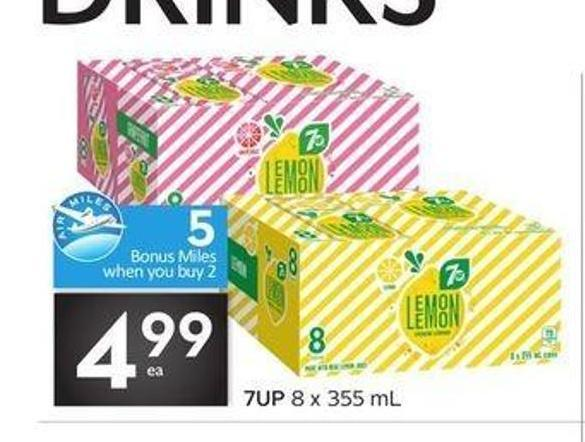 7up 8 X 355 mL Drinks - 5 Air Miles Bonus Miles