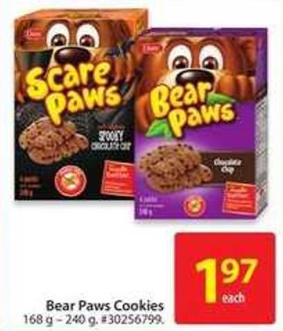 Bear Paws Cookies