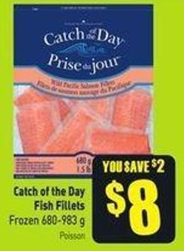 Catch of The Day Fish Fillets Frozen 680-983 g