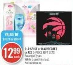 Old Spice or Olay/secret or Axe 3-piece Gift Sets