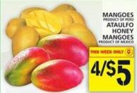 Mangoes Or Ataulfo Honey Mangoes