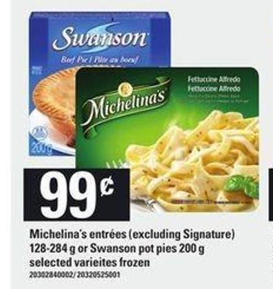 Michelina's Entrées - 128-284 G Or Swanson Pot Pies - 200 G
