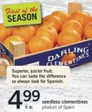 Seedless Clementines - 5 Lb