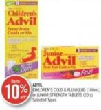 Advil Children's Cold & Flu Liquid (100ml) or Junior Strength Tablets (20's)
