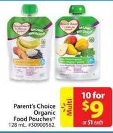 Parent's Choice Organic Food Pouches