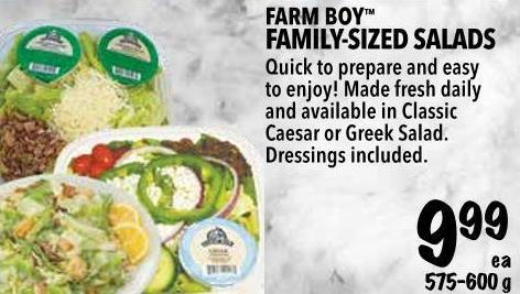 Farm Boy  Family-sized Salads 575-600 g