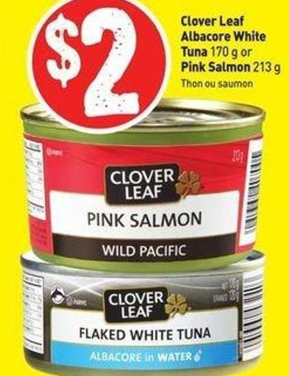 Clover Leaf Albacore White Tuna 170 g or Pink Salmon 213 g