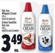 Gay Lea Whipped Cream