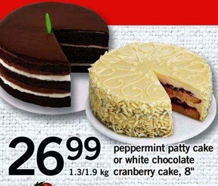 Peppermint Patty Cake Or White Chocolate Cranberry Cake