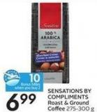 Sensations By Compliments Roast & Ground Coffee 275-300 g - 10 Air Miles Bonus Miles