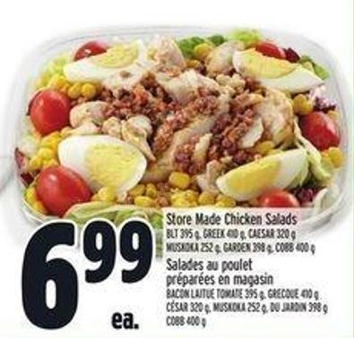 Store Made Chicken Salads