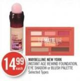 Maybelline New York Instant Age Rewind Foundation - Eye Shadow or Blush Palette