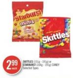Skittles (151g - 191g) or Starburst (164g - 191g) Candy