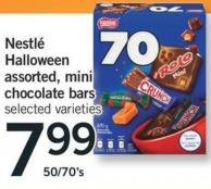 Nestlé Halloween Assorted - Mini Chocolate Bars - 50/70's